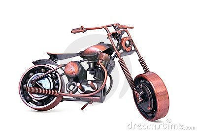 Handmade model of chopper motorcycle