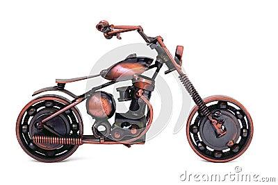 Handmade model of custom motorcycle