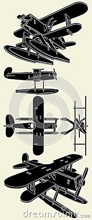 Handmade Model Of Hydro Airplane Vector 01