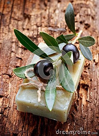 Free Handmade Olive Soap Stock Photography - 25452262