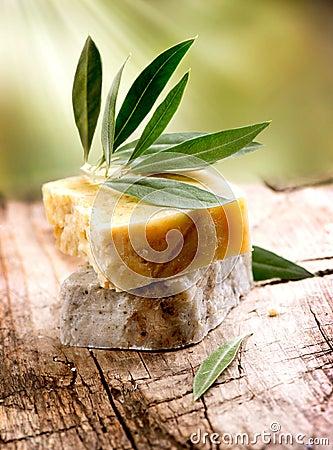 Free Handmade Olive Soap Stock Photography - 28173892