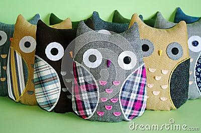 Handmade owl toys
