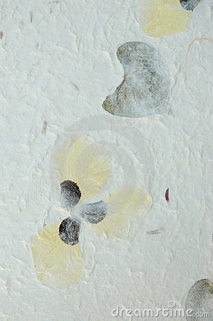 Handmade Pansy Petals Paper