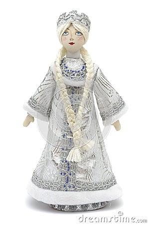 Handmade puppet Snowmaiden