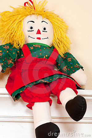Handmade ragdoll red and green