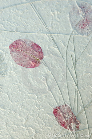 Handmade Red Leaf Paper
