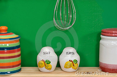 Handmade Salt and Pepper Containers
