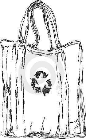 Handmade  sketch of eco bag