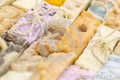Handmade soap background