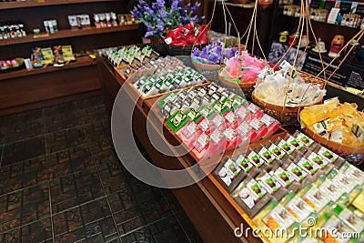 Handmade soap in Chiang Mai, Thailand