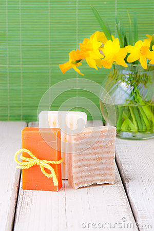 Handmade soap for spring cleaning.
