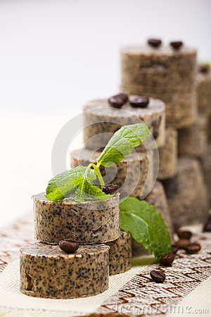 Handmade soap stack
