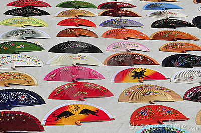 Handmade Spanish fans for dance