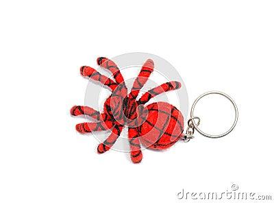 Handmade spider keychain