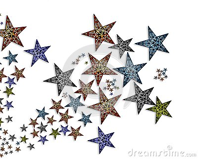 Handmade  stars  illustration #2