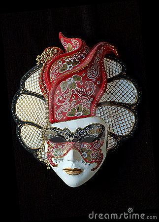 Free Handmade Venetian Mask (red) Stock Photos - 1021673