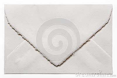 Handmade White Envelope Isolated