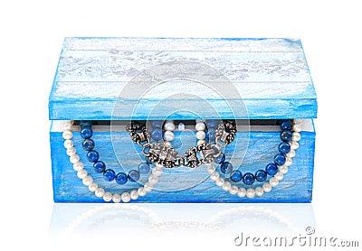 Handmade wooden jewelry box.