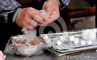 Handmake Chinese local snack rice dumpling