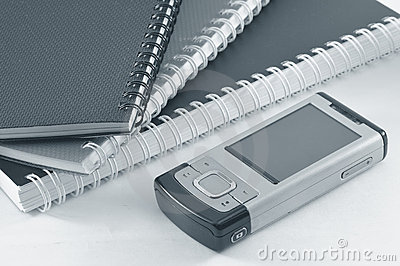 Handphone and notepads