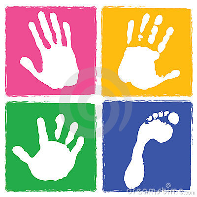 Free Handprint And Footprint Stock Image - 5015151