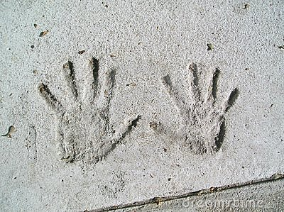 Handprints in Cement