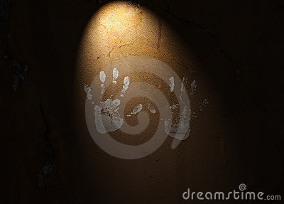 Handprints en la pared Textured