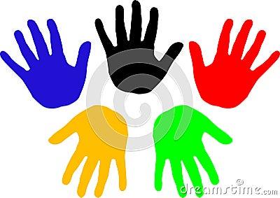 Handprints (vector)