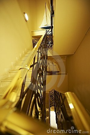 Free Handrail Closeup On Stair Royalty Free Stock Images - 17648429