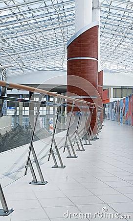 Handrail and column