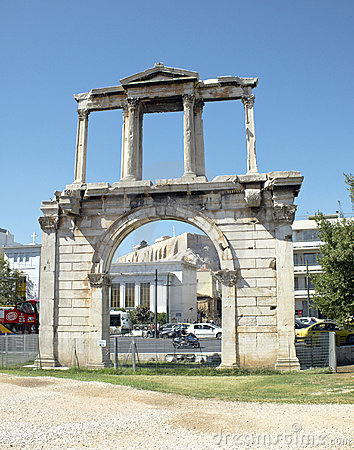 Handrian s  gate of new city of Athens