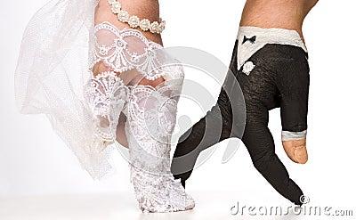 Hands acting as bride