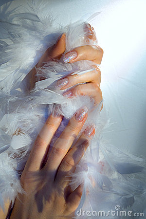 Free Hands And Boa Royalty Free Stock Image - 7902026