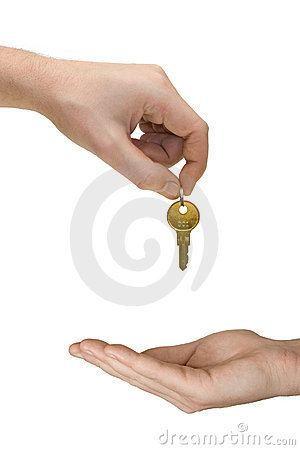 Free Hands And Golden Key Stock Photography - 2136542