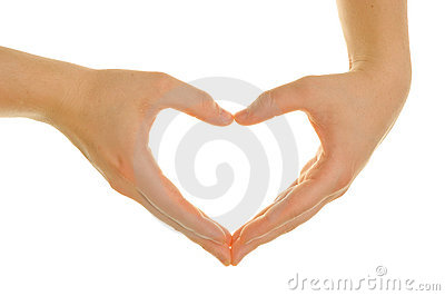 Hands att forma för hjärta