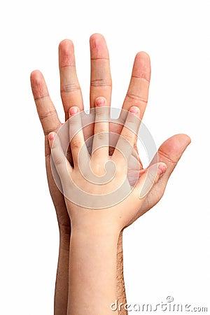 Hands of the baby