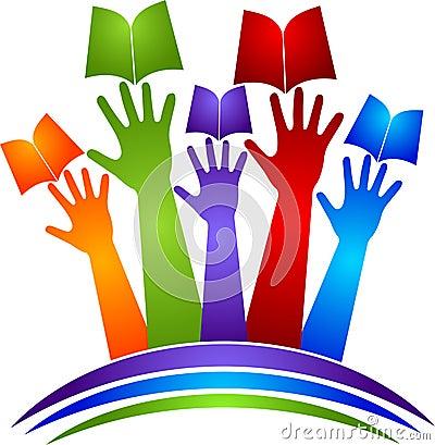 Hands book logo
