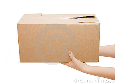 Hands with box