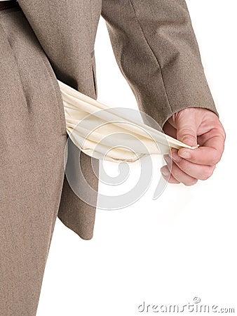 Free Hands - Broke Businessman Stock Images - 1108214