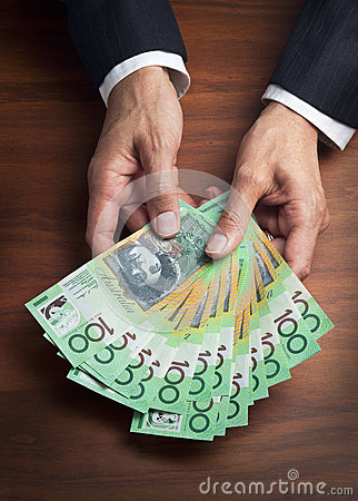 Free Hands Business Money Dollars Superannuation Royalty Free Stock Images - 29327409