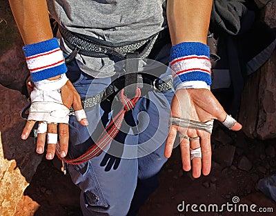 Hands of a climber