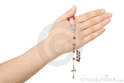 Hands closed in prayer