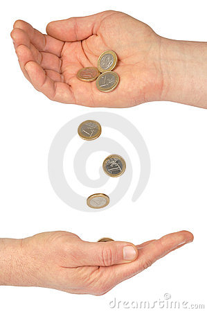 Hands and Coins