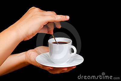 Hands with a cup of coffee