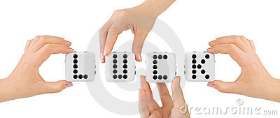 Hands and dices Luck