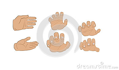 Hands in different angles