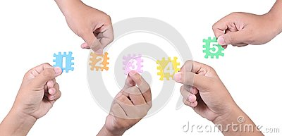 Hands with different numbers