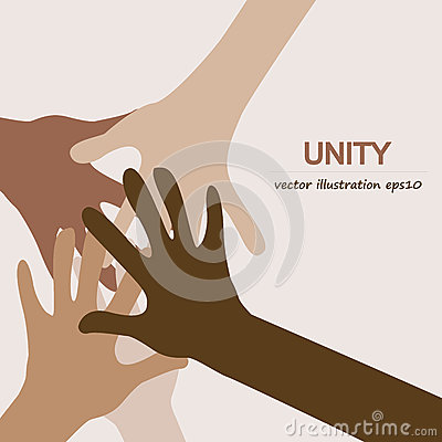 Free Hands Diverse Unity Stock Photography - 70195132