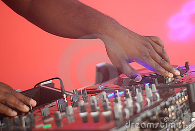 Hands of a DJ