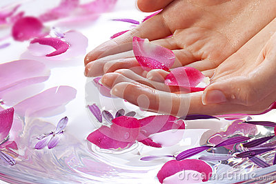 Hands Flower Beauty Treatment